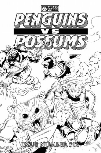 Penguins vs. Possums #6 Coloring Book Cover Variant