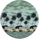 Tropical Print Fabric - Molokini (Green)