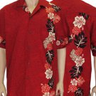 Laele - Men Boarder Shirt - Red  2XL - 4XL
