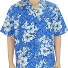 Shirt Of Hawaii - Hibiscuc- Blue  2XL - 4XL