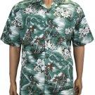 Lou'lu Men Cotton Shirts - Green