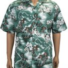 Lou'lu Men Cotton SHirts - Green 2XL - 3XL