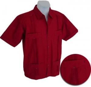 Formal Guayabera Shirt  - Wine
