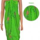 Hibiscus Sarong - Green