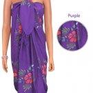 Aloha Hibiscus Sarong - Purple