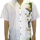 Men's Border Shirt- Island Flower