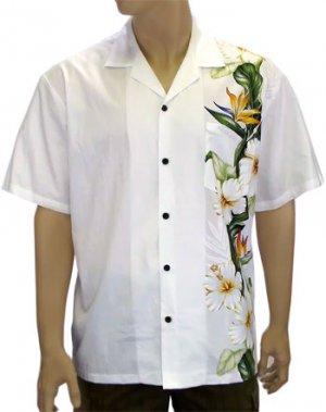 Men's Border Shirt- Island Flower