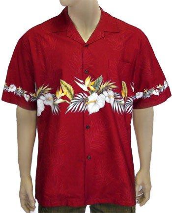 Hawaiian Anthuriums - Border Shirt 2XL