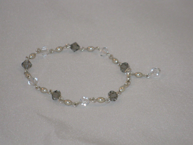 Smoky Swarovski Crystal Bracelet - 225B