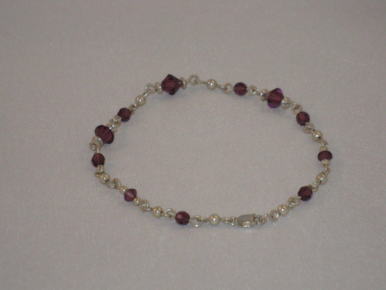 Purple Swarovski Crystal Bracelet - S121B