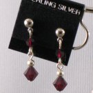 Garnet-colored Swarovski crystal Earrings - S134C