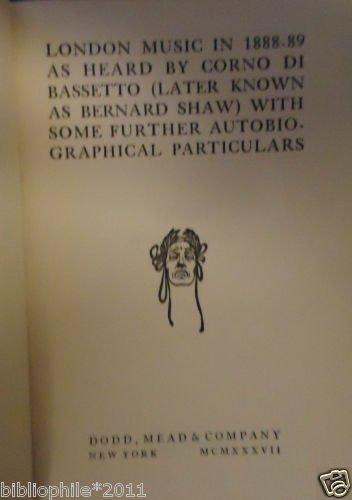 London Music in 1888-89 as Heard by Corno di Bassetto