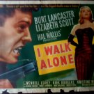 I Walk Alone1948 Original Movie Poster Kirk Douglas, Lancaster, Lizabeth Scott