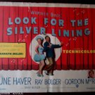Looking For The Silver Lining 1949 Original Movie Poster 1/2 Sheet June Haver