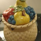 Metlox Vintage Basket with fruited lid Perfect Condition Scarce and lovely