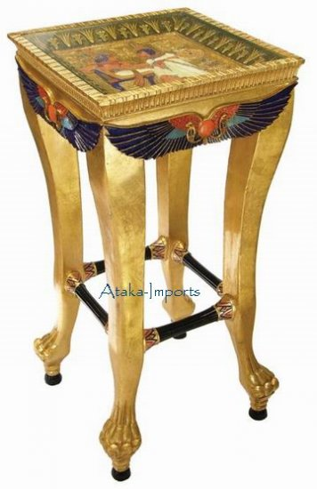 EGYPTIAN GOLDEN TEA TABLE / SIDE TABLE / FURNITURE (6406s)
