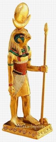 PEWTER-EGYPTIAN HORUS FIGURINE (6157)