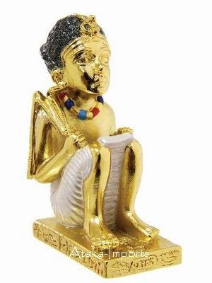 PEWTER-EGYPTIAN AMENOPHIS III  FIGURINE (6243)