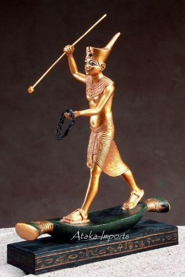 EGYPTIAN-KING TUT ON PAPYRUS RAFT (5081s)