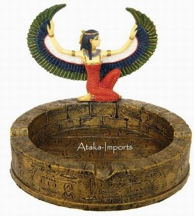 EGYPTIAN GODDESS MAAT FIGURINE ASHTRAY (6345)