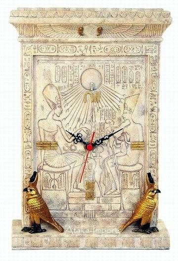 EGYPTIAN SUN GOD HORUS CLOCK (6351)