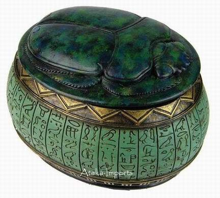EGYPTIAN SCARAB JEWELRY BOX (6335)