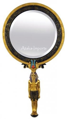 EGYPTIAN PHARAOH-KING TUT MIRROR (6339)