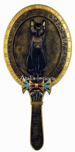 EGYPTIAN BASTET MIRROR -NEAT (6336)