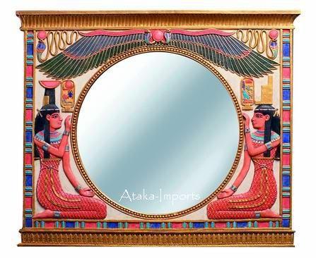 EGYPTIAN-WOMEN WALL MIRROR (6131)