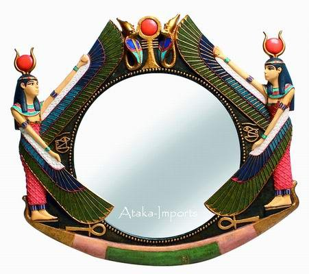 ISIS EGYPTIAN WALL MIRROR -NEAT (6202s)
