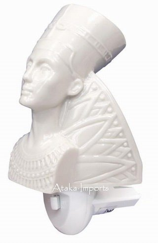 NEFERTITI EGYPTIAN CERAMIC NIGHT LIGHT (6343)