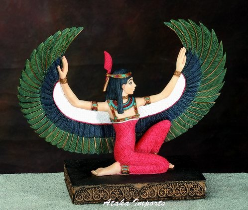 EGYPTIAN-EGYPT GODDESS MAAT STATUE-GORGEOUS (5303)