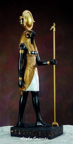 EGYPTIAN LARGE SUN GOD HORUS STATUE (5311)