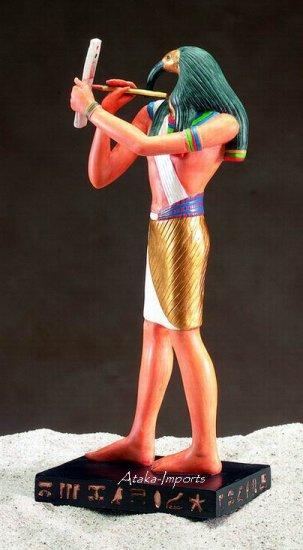 EGYPTIAN-IBIS- HEADED THOTH STATUE (5145)