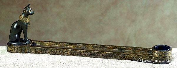 BASTET INCENSE HOLDER & CANDLEHOLDER (5327)