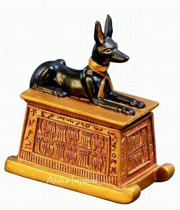 EGYPTIAN GOD ANUBIS -SMALL TRINKET BOX (6128)