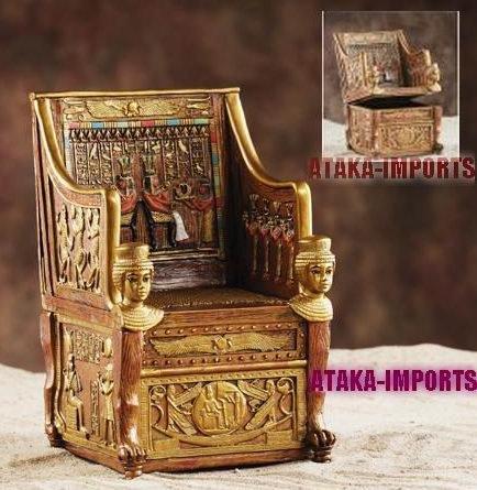 EGYPTIAN THRONE JEWELRY-TRINKET BOX (5865s)