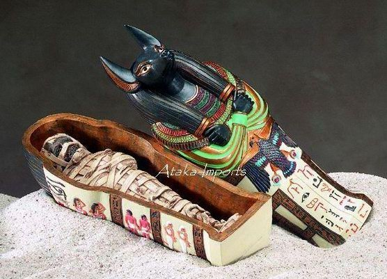 ANUBIS COFFIN W MUMMY -GOD OF DEAD (5075)