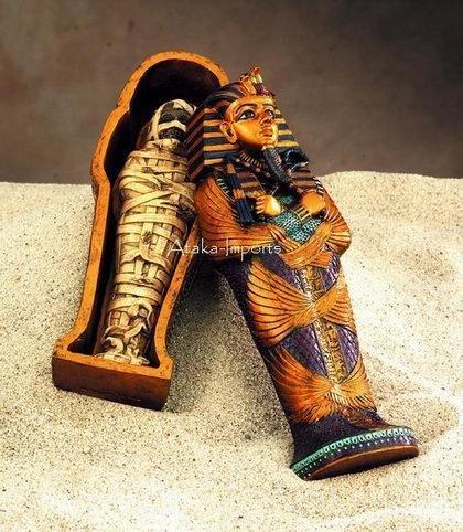EGYPTIAN KING TUT COFFIN & MUMMY SET (5005)
