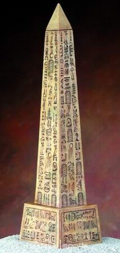 EGYPTIAN SANDSTONE OBELISK w HIEROGLYPHS (5306)