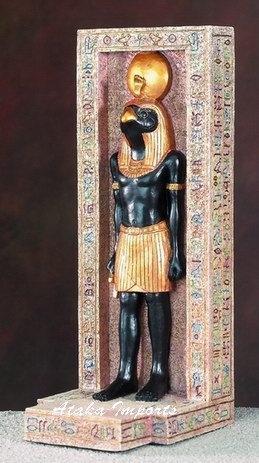 EGYPTIAN HORUS STATUE-STANDING IN COLUMN (5491)