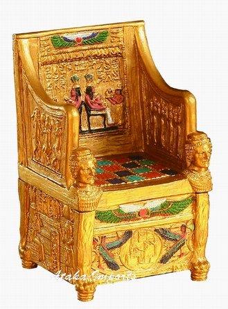 EGYPTIAN SITAMUN THRONE TRINKET BOX (6132)