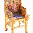 PEWTER-EGYPTIAN CEREMONIAL KING'S THRONE  (6158)