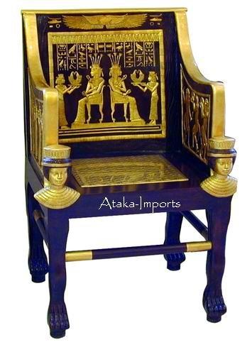 LIFE SIZE EGYPTIAN PRINCESS SITAMUN THRONE (5969)