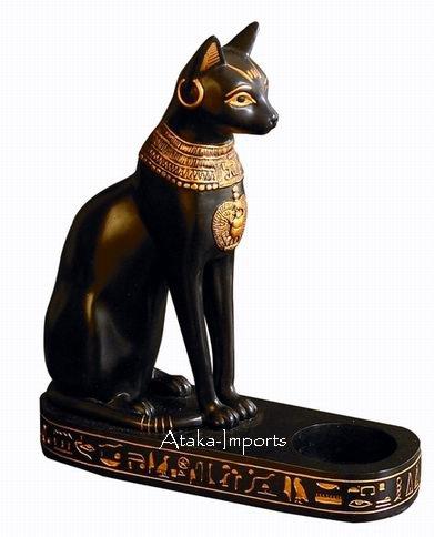 BAST-EGYPTIAN BASTET CANDLEHOLDER-FINEST (6110)