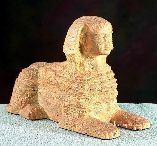 EGYPTIAN SPHINX STATUE-PHAROAH KHUFU (5485s)