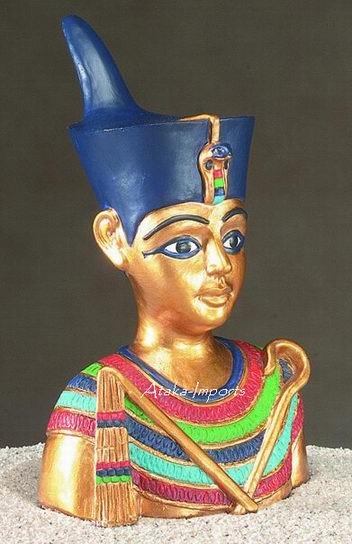 YOUNG EGYPTIAN KING TUT STATUE-PHARAOH (5108)