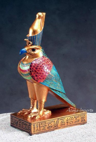 EGYPTIAN HORUS FALCON BIRD STATUE (5100s)