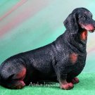 DACHSHUND (BLACK) DOG FIGURINE-STATUE (5061s)