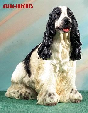 ENGLISH SPRINGER SPANIEL DOG FIGURINE-STATUE (5063s)